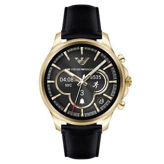Emporio Armani Connected Yellow Gold Tone Men's Smartwatch - Product number 8217084