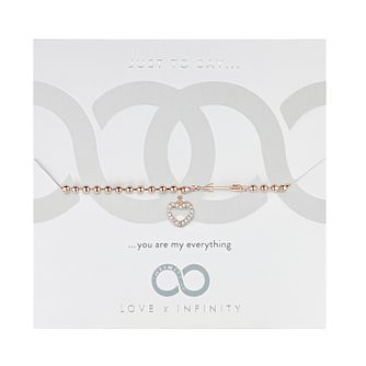 Love x Infinity Rose Gold Tone Heart & Arrow Bracelet - Product number 8220077