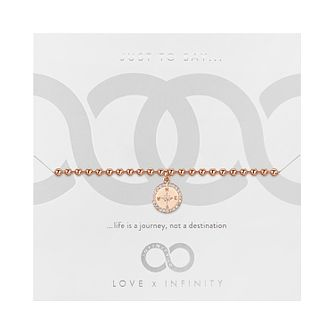 Love x Infinity Rose Gold Tone Compass Bracelet - Product number 8220093