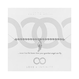 Love x Infinity Silver Tone Angel Wing Bracelet - Product number 8220115