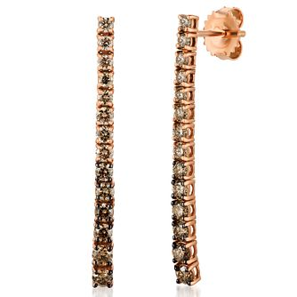 Le Vian 14ct Strawberry Gold Ombre Diamond Earrings - Product number 8221499