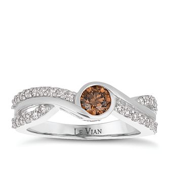 Le Vian 14ct Vanilla Gold Chocolate and Vanilla Diamond Ring - Product number 8221529
