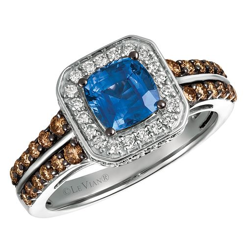 Le Vian 14ct Vanilla Gold Cornflower Ceylon Sapphire Ring - Product number 8223106