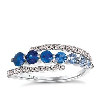 Le Vian 14ct Vanilla Gold Denim Sapphire Ombre Ring - Product number 8223270