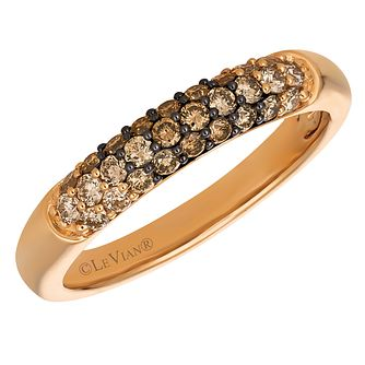 Le Vian 14ct Strawberry Gold Chocolate Diamond Ombre Ring - Product number 8223548