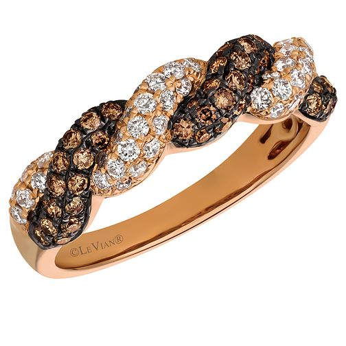 Le Vian 14ct Strawberry Gold Chocolate Diamond Ring - Product number 8224218