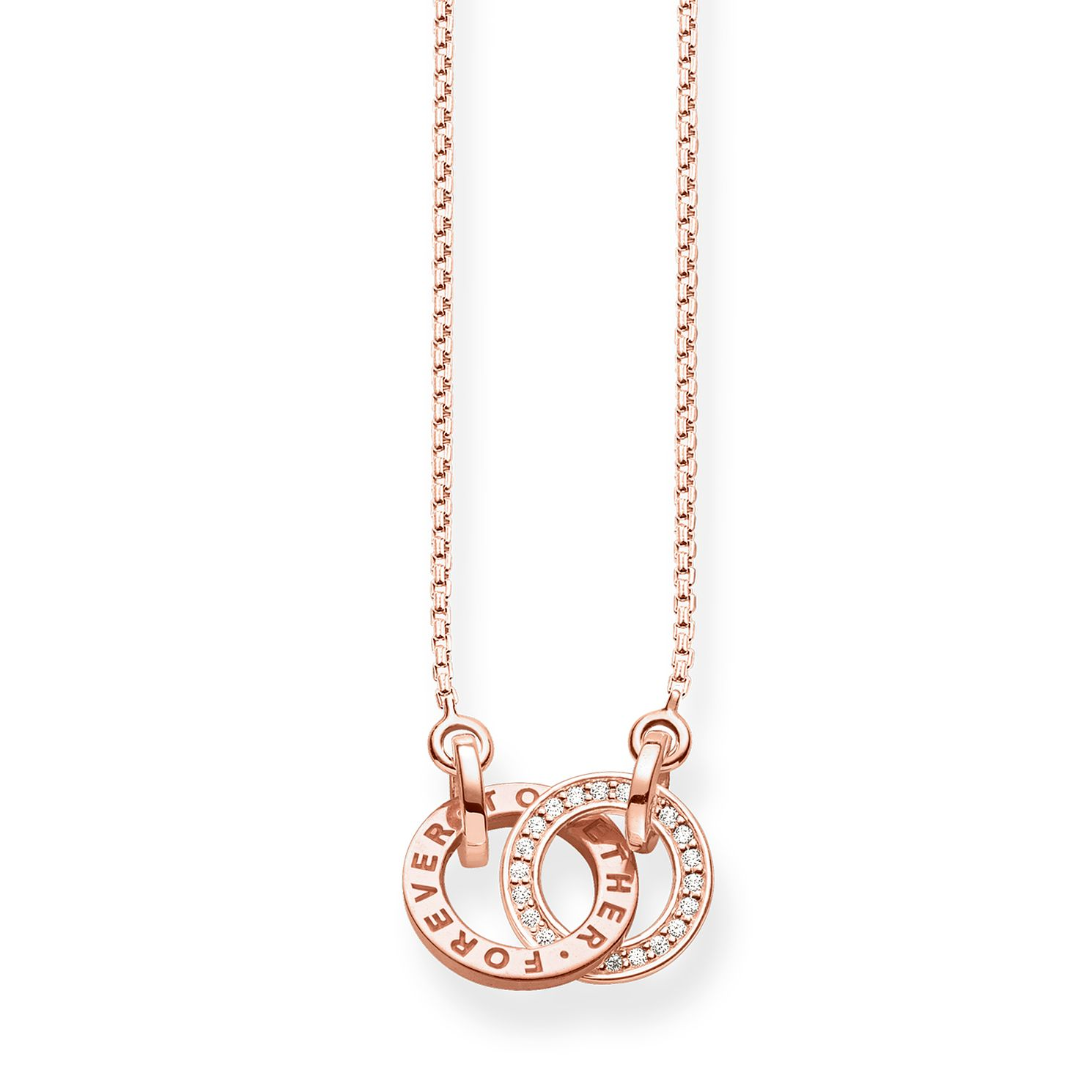 Thomas Sabo Together Rose Gold Plated Circular Necklace - Product number 8227098