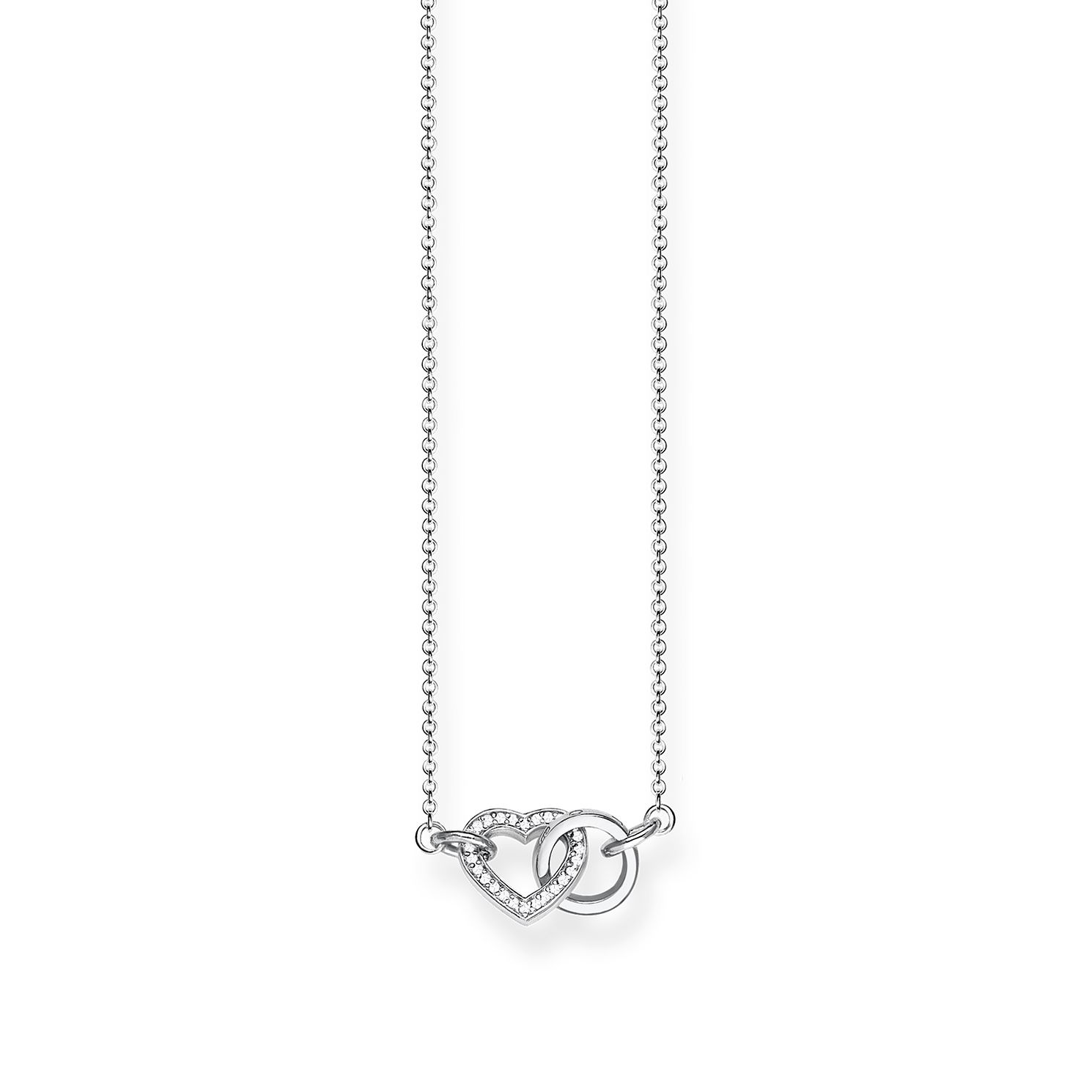 Thomas Sabo Together Sterling Silver Stone Set Necklace - Product number 8227101