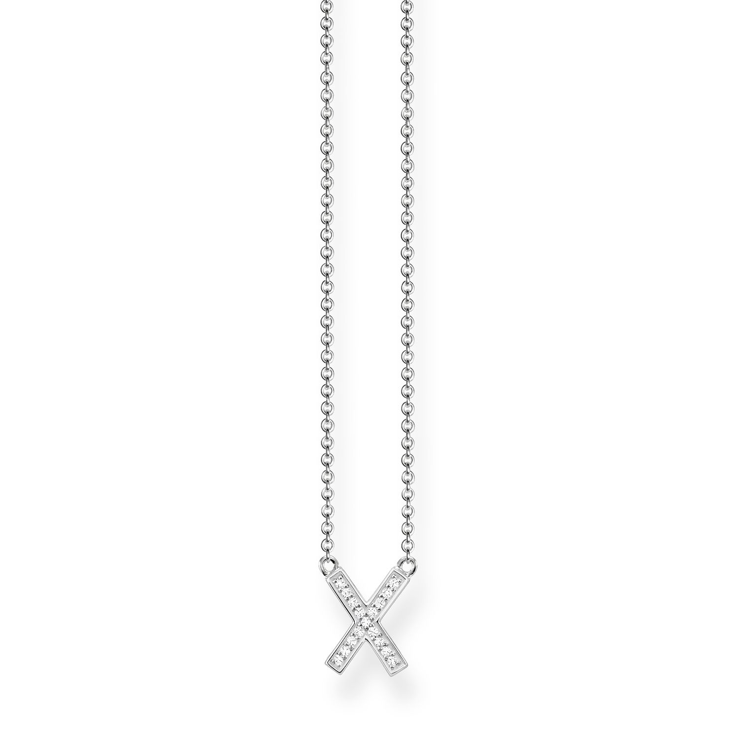 Thomas Sabo Glam & Soul Sterling Silver Classic X Necklace - Product number 8227276