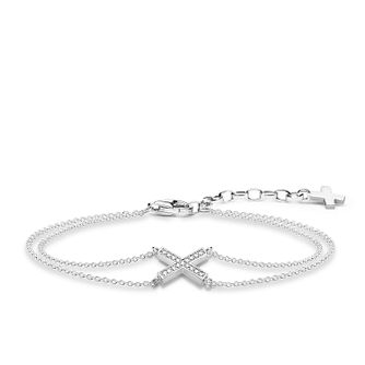 c49673b453d Thomas Sabo Glam   Soul Sterling Silver Classic X Bracelet - Product number  8227446