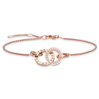 Thomas Sabo Together Rose Gold Plated Circular Bracelet - Product number 8227608