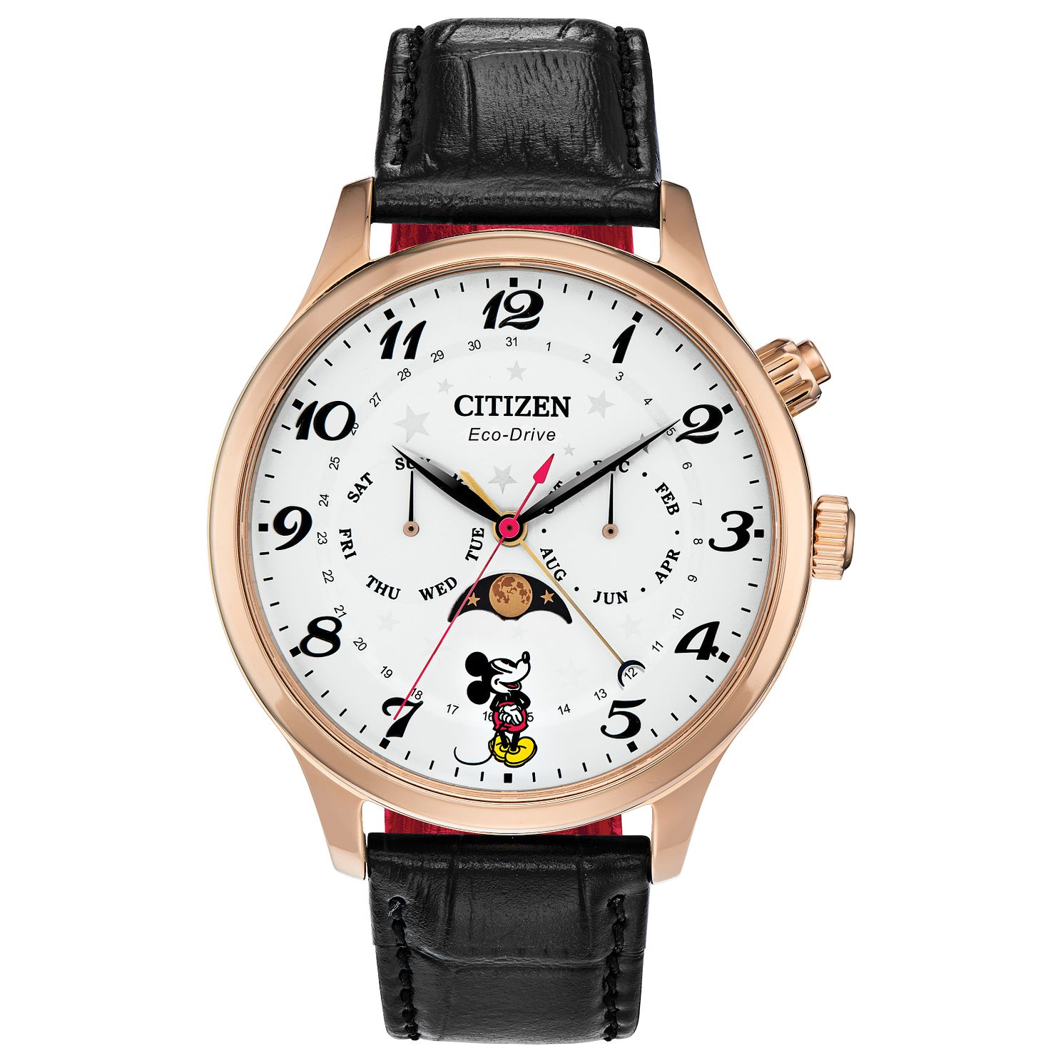 Citizen Disney Mickey Mouse Black Leather Strap Watch - Product number 8228477