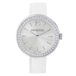 Swarovski Daytime Ladies' Crystal White Leather Strap Watch - Product number 8228817