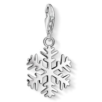 Thomas Sabo Sterling Silver Stone Set Snowflake Charm - Product number 8231354