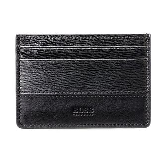 BOSS Focus Men's Black Leather Card Holder - Product number 8231885