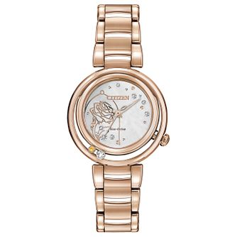 Citizen Disney Belle Rose Gold Tone Bracelet Watch - Product number 8233160