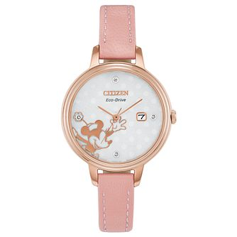 Citizen Disney Minnie Mouse Pink Leather Strap Watch - Product number 8233209