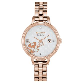Citizen Disney Minnie Mouse Rose Gold Tone Bracelet Watch - Product number 8233241