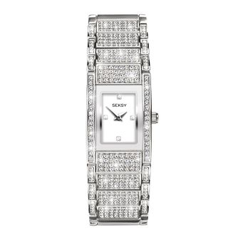 Seksy Ladies' Crystal-Set Bracelet Watch - Product number 8233292