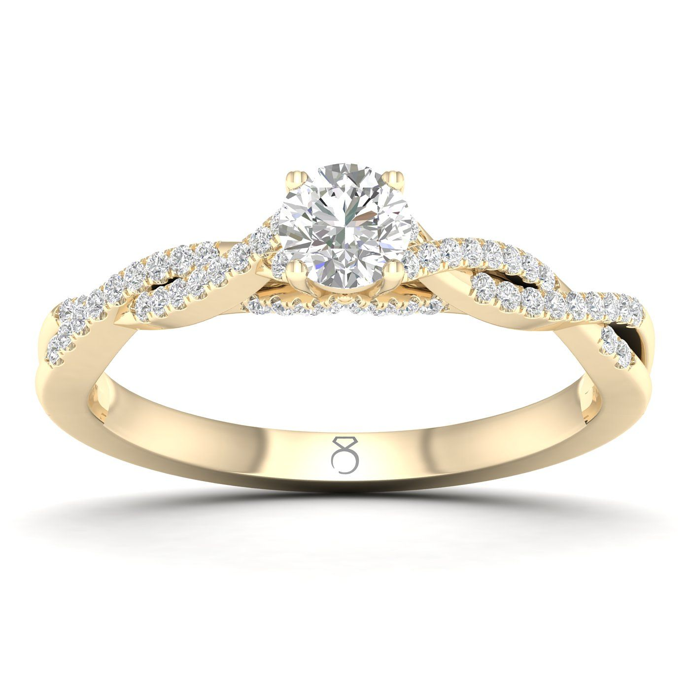 The Diamond Story 18ct Yellow Gold 0.40ct Diamond Twist Ring - Product number 8234639