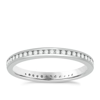 18ct white gold 0.25ct diamond eternity ring - Product number 8236968