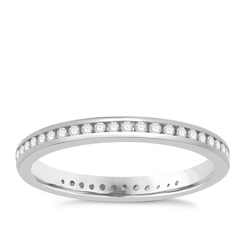 18ct White Gold 1/4ct Diamond Eternity Ring - Product number 8236968