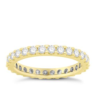 18ct yellow gold one carat diamond full eternity ring - Product number 8241171