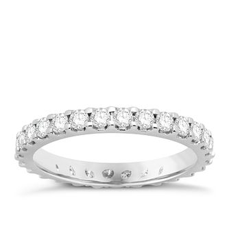 Platinum 1ct Diamond Eternity Ring - Product number 8241449
