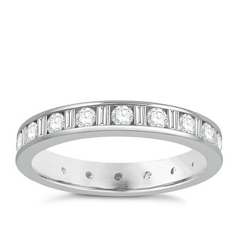 Platinum One Carat Diamond Full Eternity Ring - Product number 8242232