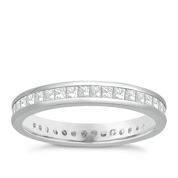 Ernest Jones Platinum Diamond Eternity Rings