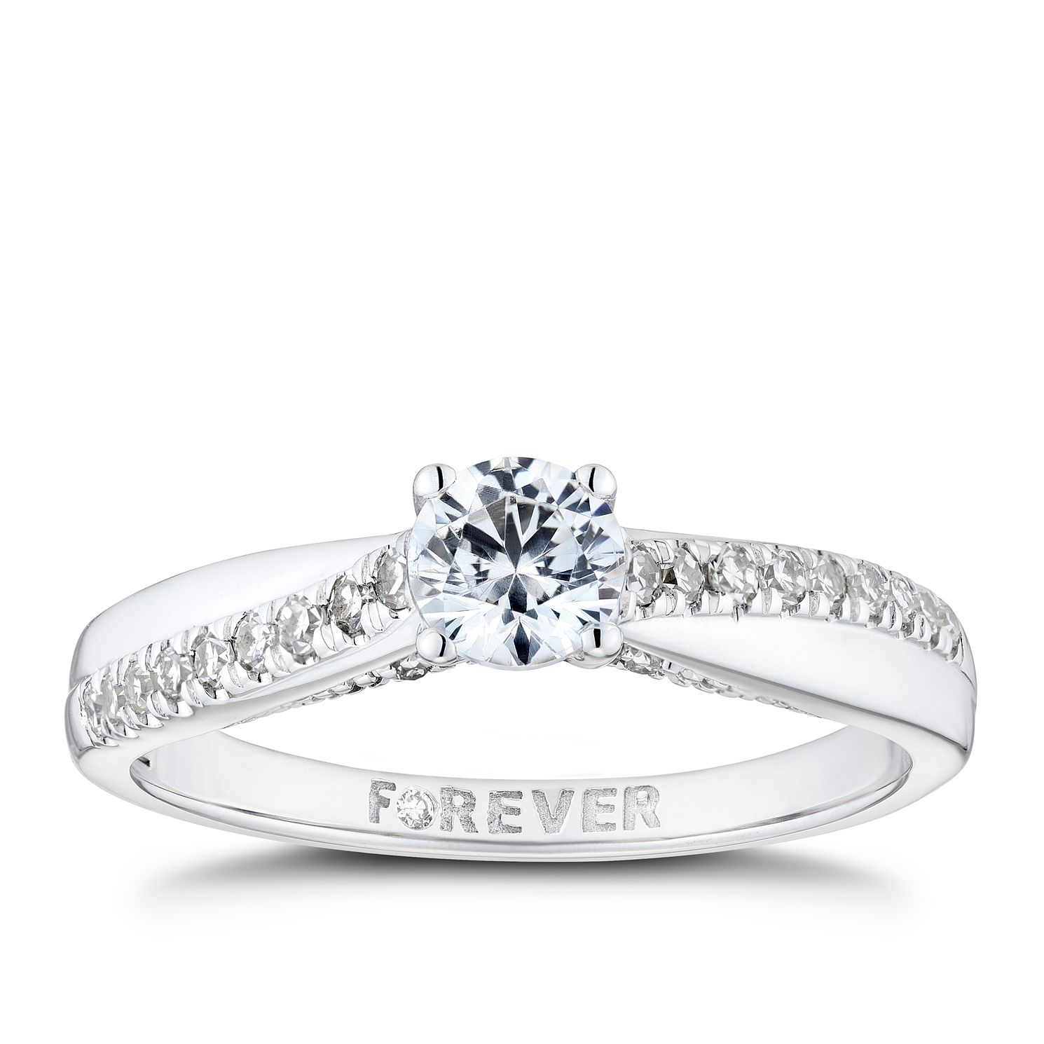 The Forever Diamond 18ct White Gold 0.50ct Total Ring - Product number 8342865