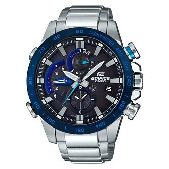 Casio Edifice Men's Stainless Steel Blue Bracelet Watch - Product number 8344701