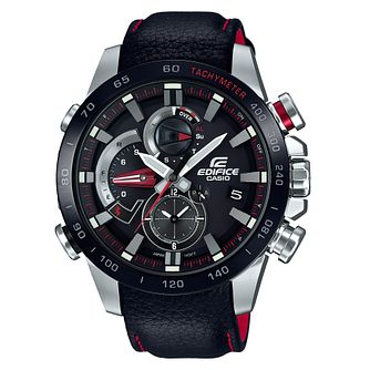 Casio Edifice Men's Stainless Steel Red Bracelet Watch - Product number 8344728