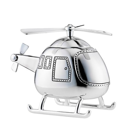 Childhood Memories Silver Plated Helicopter Money Box - Product number 8348545