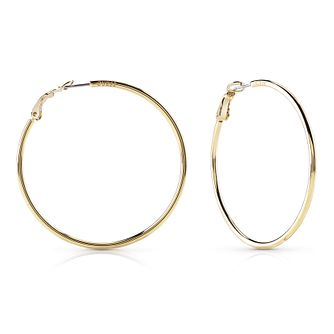 Guess Gold Plated Rhodium Circle Hoop Earrings - Product number 8359199