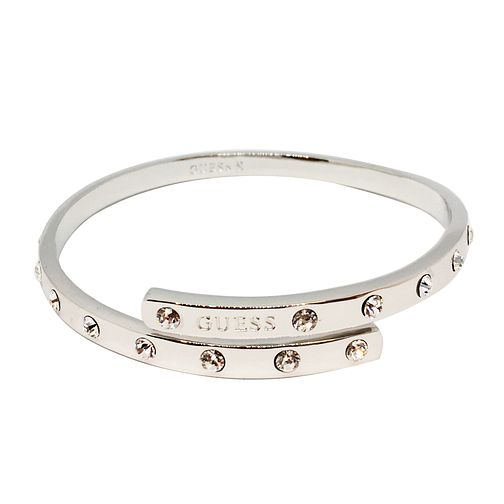 Guess Rhodium Plated Full Crystal Bangle - Product number 8359911