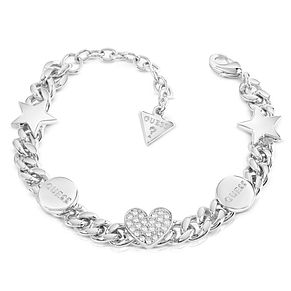 Guess Rhodium Plated Heart & Star Bracelet - Product number 8360022