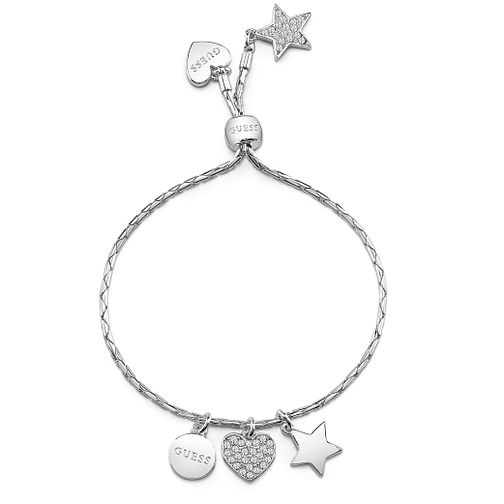 Guess Rhodium Plated Friendship Charm Bracelet - Product number 8360030