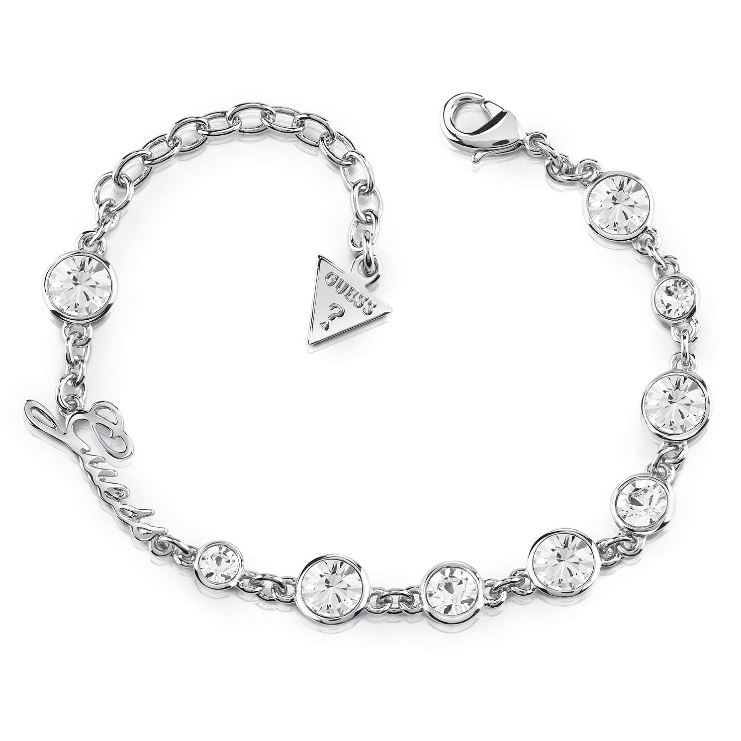 Guess Rhodium Plated Multi Swarovski Crystals Bracelet - Product number 8360162
