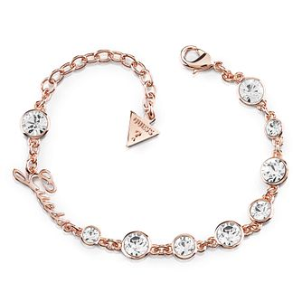 Guess Rose Gold Plated Multi Crystal Bracelet - Product number 8360189