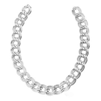 Guess Rhodium Plated Flat Link Chain Bracelet - Product number 8360294