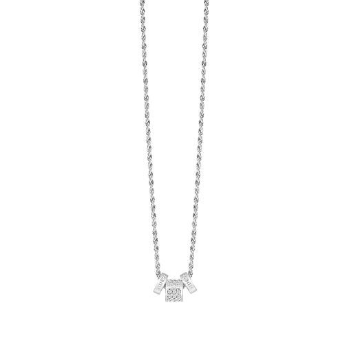 Guess Rhodium Plated Crystal Clear Bead Necklace - Product number 8360464