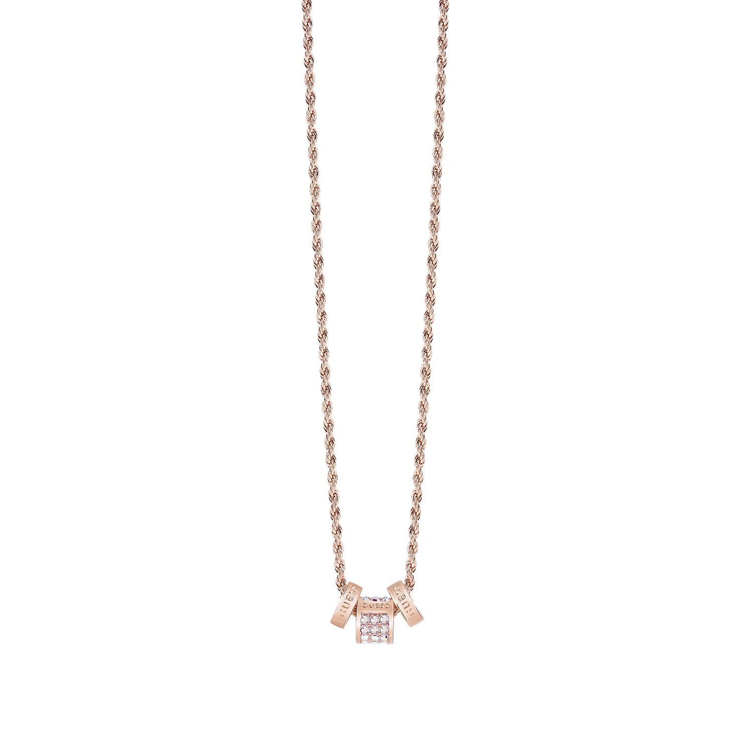 Guess Rose Gold Plated Aurora Crystal Bead Necklace - Product number 8360472