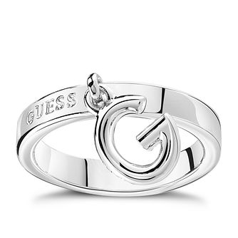 Guess Rhodium Plated Charm Ring - Product number 8360820