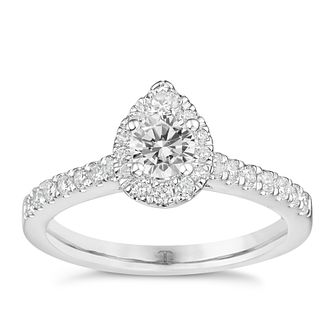 Tolkowsky 18ct White Gold 0.75ct Total Diamond Halo Ring - Product number 8361304