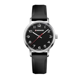 Wenger Avenue Ladies' Black Silicone Strap Watch - Product number 8367612