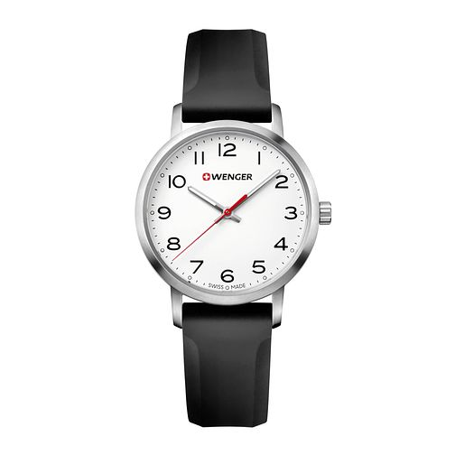 Wenger Avenue Ladies' Black Silicone Strap Watch - Product number 8367639