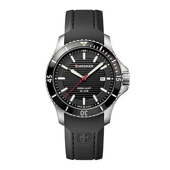 Wenger Seaforce Men's Black Silicone Strap Watch - Product number 8367930