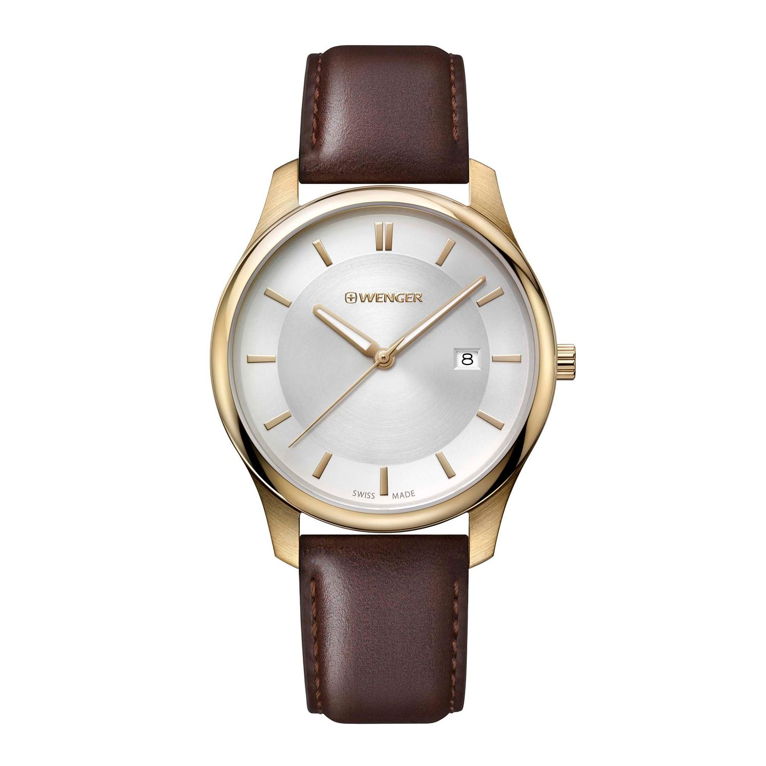 Wenger City Classic Men's Brown Leather Strap Watch - Product number 8368066