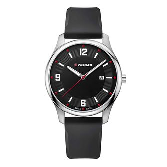 Wenger City Active Men's Black Silicone Strap Watch - Product number 8368082